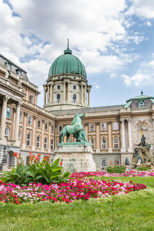 buda: BUDAPEST, HUNGARY, - JULY 21, 2015:  Royal palace or Buda castle in Budapest Hungary Editorial