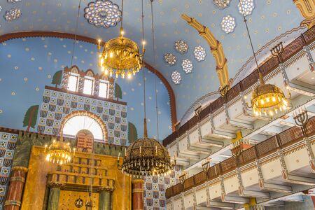 synagogue: Orthodox Kazinczy Street Synagogue in Budapest Hungary