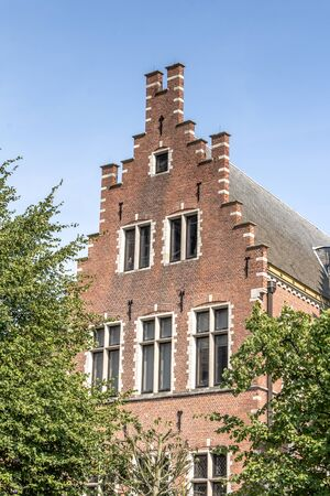 gable: Old gable house in Mechelen Belgium
