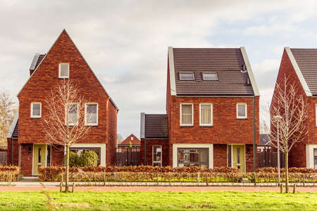 domestication: Modern suburb houses in the Netherlands