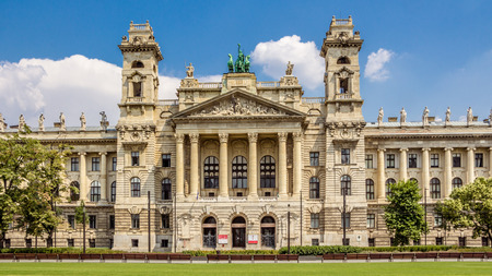 ethnography: The facade of the Museum Nprajzi on Kossuth Square in Budapest, Hungary. The Nprajzi Museum is dedicated in Ethnography.