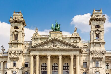 ethnography: BUDAPEST, HUNGARY - JULY 23, 2015: The facade of the Neprajzi Museum on Kossuth square in Budapest, Hungary. The Neprajzi Museum is dedicated in Ethnography.