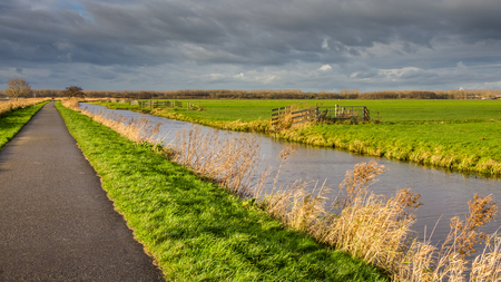 dutch typical: Typical Dutch Landscape in Holland Reeuwijk Stock Photo