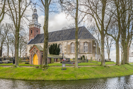 protestant: Protestant church in Tjamsweer in the Netherlands Editorial