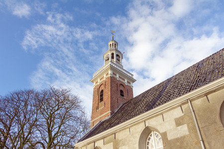 milion: Protestant church in Tjamsweer in the Netherlands Stock Photo