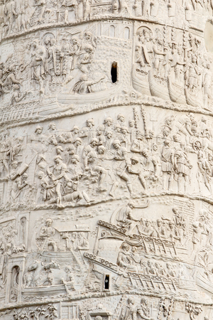 bass relief: Close up Trajans column in Rome