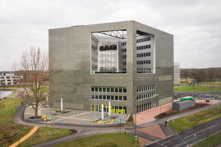 WAGENINGEN, HOLLAND - 26 januari 2016: Orion gebouw van de Wageningen Universiteit en Research Centrum in Wageningen in Nederland Redactioneel