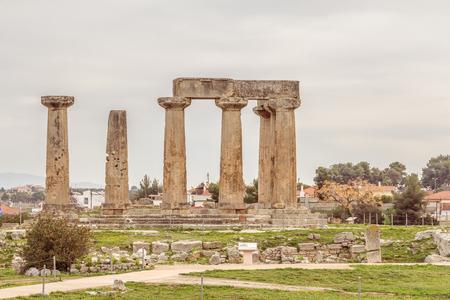 apollo: Temple of Apollo in Ancient Corinth, Greece
