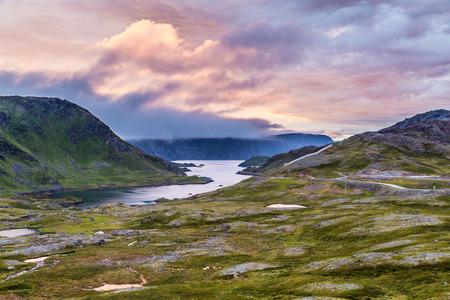 midnight: Midnight sun in nothern Norway Stock Photo