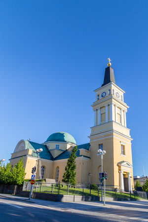 Cathedral near the centre of Oulu, Finland: a popular place to visit for tourist Stock Photo