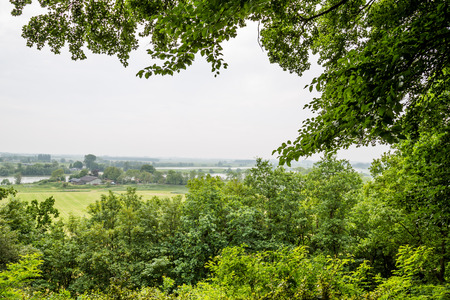 belmonte: Overview on the river Rhine in the Netherlands Stock Photo