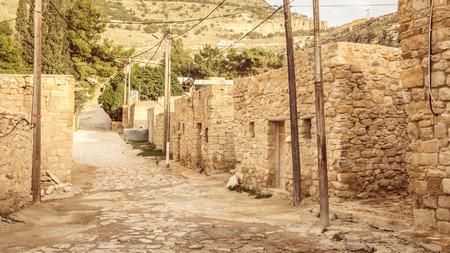 Main street in Dana vilage, Dana nature reserve. Jordan. Stock Photo