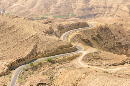 holy land: View from Mount Nebo in Jordan where Moses viewed the Holy Land.