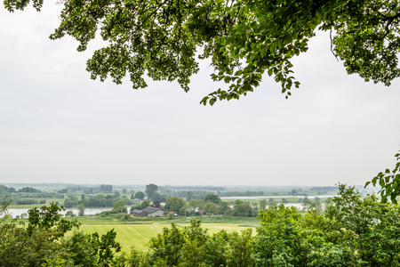 belmonte: Viewpoint river Rhine from the Arboretum in Wageningen Netherlands