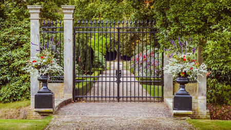 public domain: Entrance of the garden of estate Twickel in Delden Holland