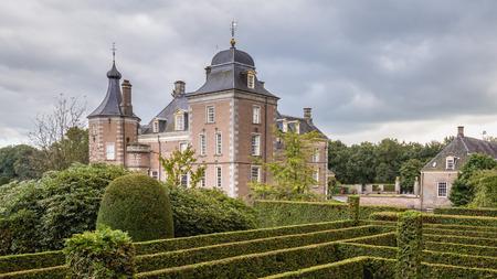 Delden, The Netherlands - October, 07, 2016:  Castle Twickel and garden in Delden The Netherlands