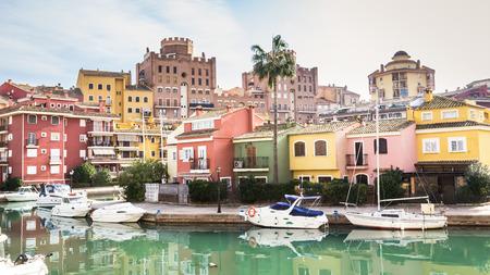 Port Saplaya, Alboraya, Valencia, Spain (Port Sa Platja) Foto de archivo
