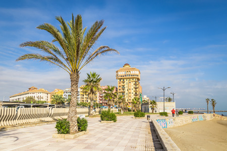 Valencia, Spain - December 03, 2016: Port Saplaya, Alboraya, Valencia, Spain (Port Sa Platja)