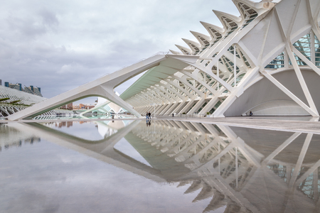Science Museum in the  City of arts and science Valencia in Spain