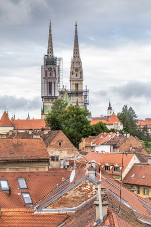 Cathedral of Zagreb, capital city of Croatia in Eruope