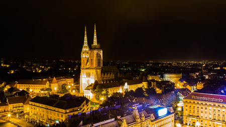 Cathedral of Zagreb, capital city of Croatia in Europe Editorial