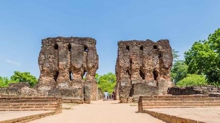 The Royal Palace at the ancient city of Polonnaruwa, the medieval capital of Sri Lanka Stock Photo