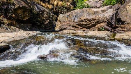Ravanna waterfall near Ella in Sir Lanka