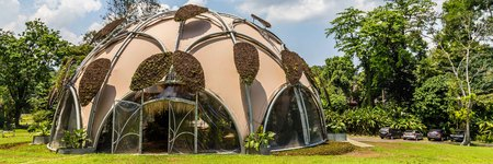 Ecodome in Botanical gardens Kebun Raya in Bogor, West Java, Indonesia. A present from the Dutch goverment. Editorial