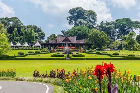 Botanische tuinen Kebun Raya in Bogor, West-Java, Indonesië Redactioneel