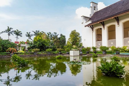 Dutch field of honor Menteng Pulo in  Jakarta, Java Island, Indo Stock Photo