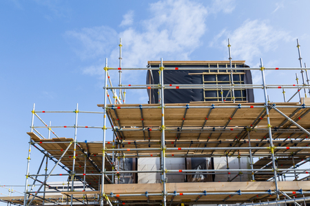 Construction site modern new homes in the Netherlands Archivio Fotografico