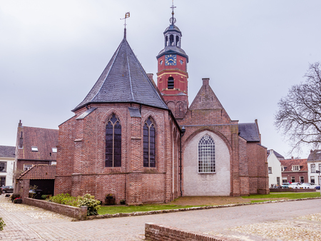 Saint Lambertus church in Buren. Gelderland, Netherlands. Prince William of Orange and Anna van Egmond, Countess of the city marriied in this church. Stockfoto
