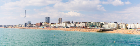 Skyline of  Birghton, East Sussex, Engeland, UK with the  i360 tower during a sunny summer day.