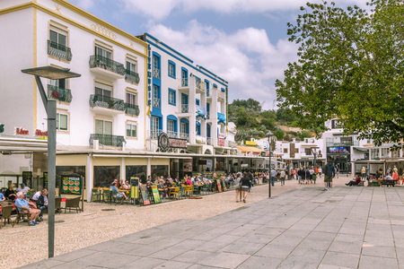Albufeira, Portugal - April, 21, 2017: Street view Albufeira in the Algarve in Portugal