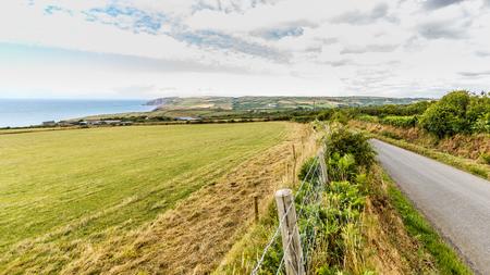 The nothern Pembrokeshire coastline in Wales, UK between Newport and Moylgrove 版權商用圖片