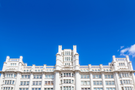 White Victorian style building along Georges Dock in  Liverpool, UK