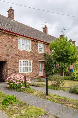 Liverpool, United Kingdom: August 02, 2018: Childhood home of Sir Paul McCartney on 20 Forthlin Road in Liverpool.