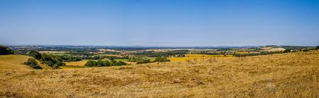 Panorama landscap with farmland in Kent Engeland UK Stockfoto