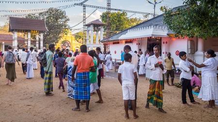 Bandarawela  Sri Lanka August 02 2017 -  HIndu pelgrims during a celebration in Ruhunu Maha Kataragama Devalaya temple complex in  Sri Lanka.