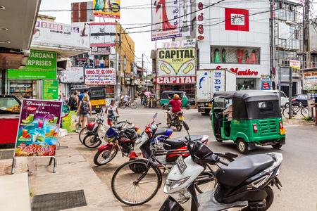 Negombo Sri Lanka July 24 2017 - Main street in the center of Negombo Redactioneel