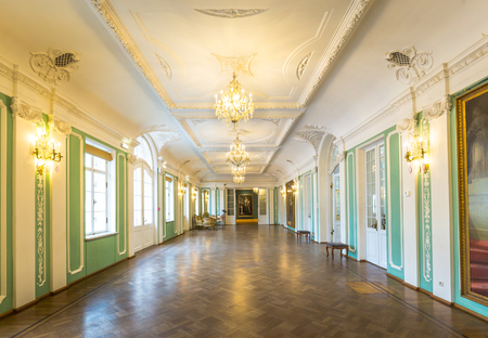 Tallinn, Estonia - September 30, 2018:  Interior of Kadriorg Palace in Roman Baroque style in Tallinn Estland. Planned after the model of Versailles. Art meuseum of Estonia.