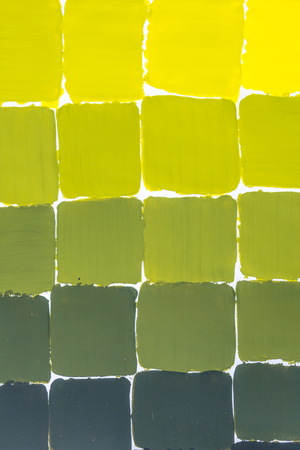 Yellow to green color chart Stockfoto - 115482293