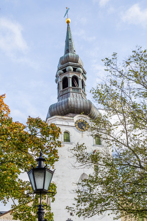 St Olaf Baptist  Church on top of Toompea hill in the old town of Tallinn in Estonia Stockfoto - 115482297