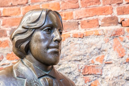 Tartu, Estonia - September 27, 2018: Bronze Sculpture of Oscar Wilde near  Kekskpark in the center of Tartu in Estonia Editorial