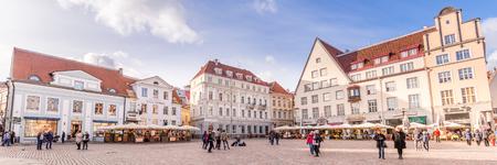 Tallinn, Estonia - September 29, 2018: Medieval Town Hall and Town Hall Square Raekoja of Tallinn, the capital of Estonia. Redactioneel