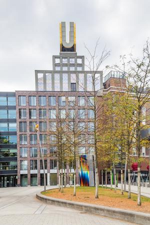 Dortmund, North Rhine Westphalia, Germany - October 18, 2018: Dortmunder U Tower Centre for Art and Creativiity Stockfoto - 111431627