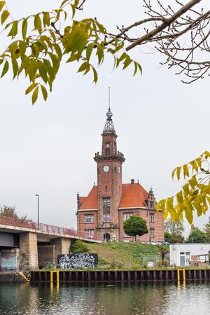 Dortmund, North Rhine Westphalia, Germany - October 19, 2018:  Old port authority (Altes Hafenamt) in Dortmund Germany. Stockfoto - 111431789