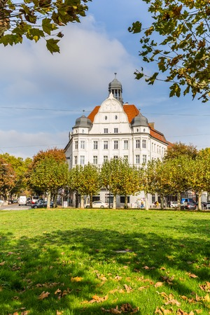 Dortmund, North Rhine Westphalia, Germany - October 19, 2018: Borsigplatz Innstadt-Nord in Dortmund Germany.  is famous for being the birthplace of football club Borussia Dortmund.