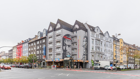 Dortmund, North Rhine Westphalia, Germany - October 19, 2018:  Building with a painting of Mallinkrodt in Mallinckrodt street in Innenstadt-Nord in Dortmund Germany. Stockfoto - 111431795