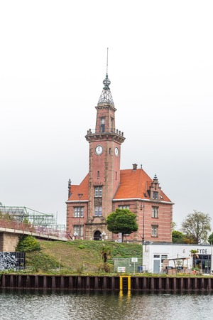 Dortmund, North Rhine Westphalia, Germany - October 19, 2018:  Old port authority (Altes Hafenamt) in Dortmund Germany. Stockfoto - 111431798